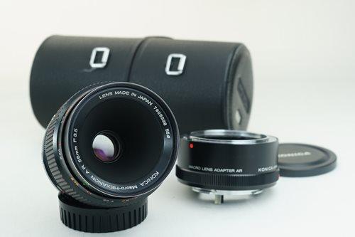 Konica AR 55mm f3.5 Macro + 1:1 Adapter  รูปขนาดปก ลำดับที่ 1 Konica AR 55mm f3.5 Macro + 1:1 Adapter