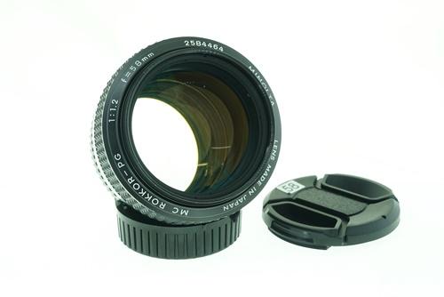 Minolta 58mm f1.2  รูปขนาดปก ลำดับที่ 1 Minolta 58mm f1.2