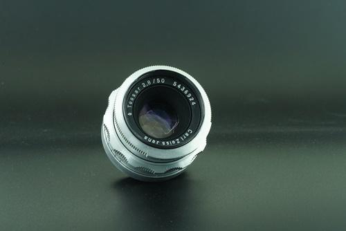 Carl zeiss tessar silver 50mm f2.8 - 8 blade  รูปขนาดปก ลำดับที่ 1 Carl zeiss tessar silver 50mm f2.8 - 8 blade